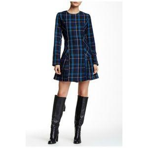 ROMEO & JULIET COUTURE Blue Plaid A-Line Dress